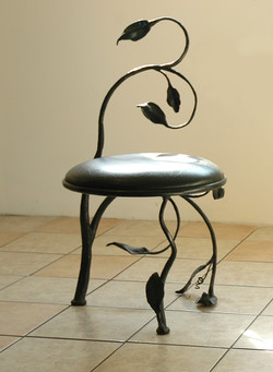 Chair with Leaf Motif