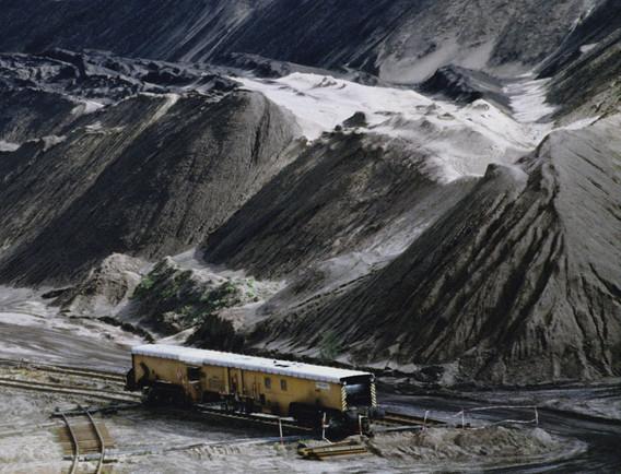 uncoupled railway car