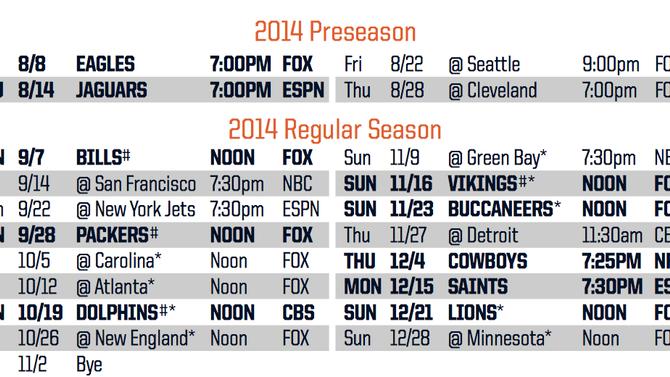 Chicago Bears 2014 Schedule!