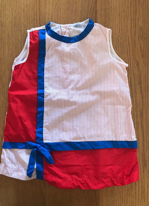Age 7 blue and red sleeveless top - original tag removed