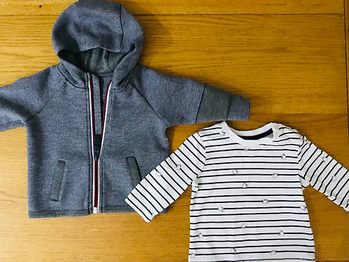0-3m jacket and long sleeve t shirt