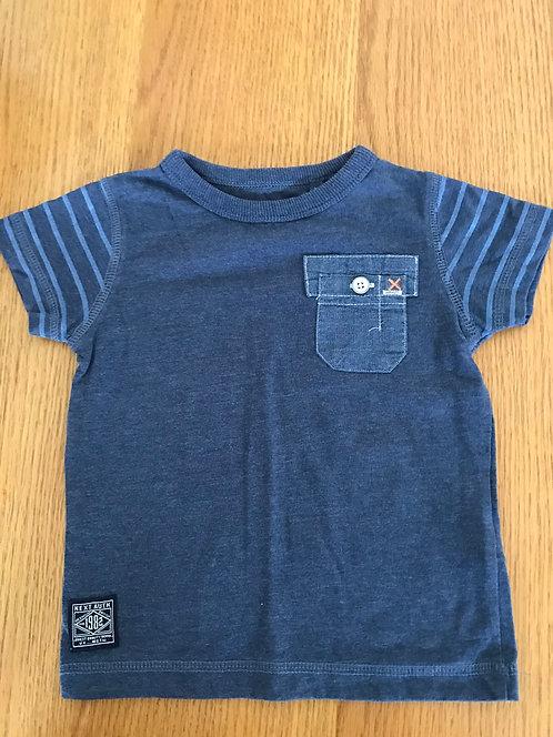 6-9m NEXT indigo pocket t shirt