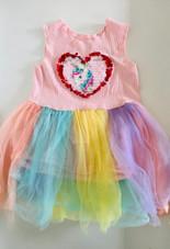 18-24m unicorn sequin pastel dress