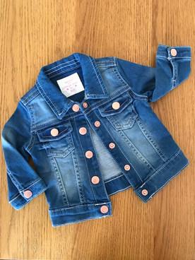 0-3 months soft denim jacket