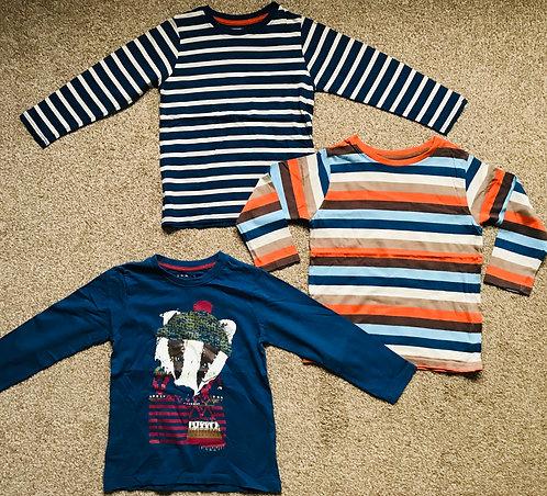 Age 5-6 3 x long sleeve t shirts