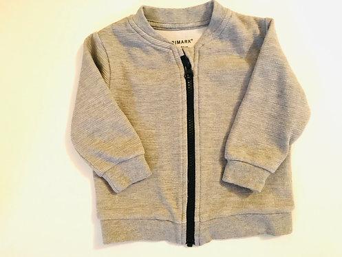 6-9m grey zip up jacket