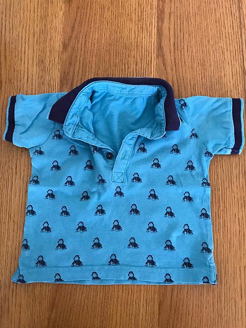 6-9m monkey polo t shirt