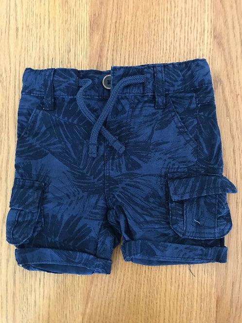 6-9m dark blue palm print shorts