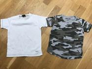 2 x 2-3 NEXT t shirts (white/camo)