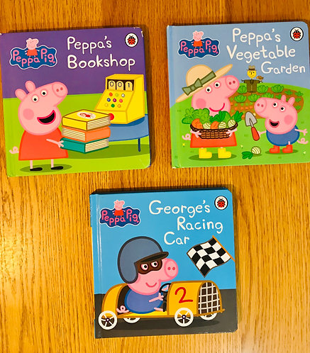 3 x Peppa Pig books