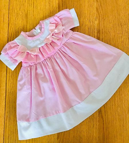 6-12m traditional pink dress
