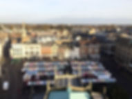 Marché de Cambridge, au coeur de la ville, king's college, made in trip, blog de voyage