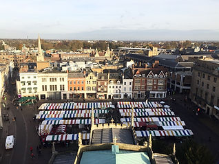 Marché de Cambridge, au coeur de la ville, king's college, made in trip, blog de voyage