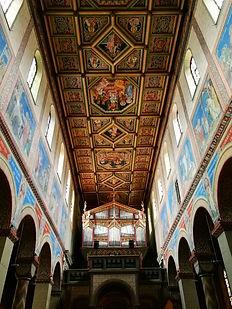 Gengenbach Allemagne église sainte marie intérieur coloré