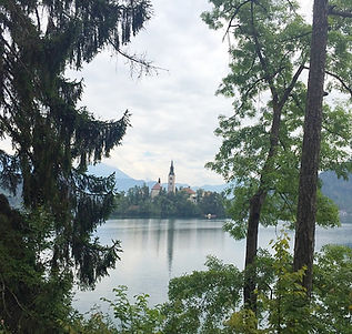 Bled, Slovénie, lac, montagne, road trip