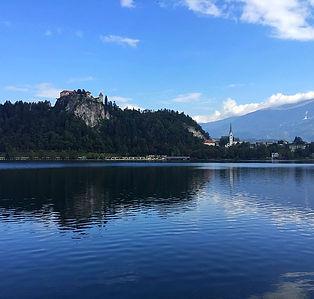 Bled, Slovénie, lac, chateau, village, air pur