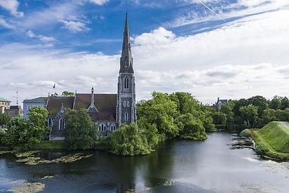 Kastellet Petite sirène Copenhague Eglise