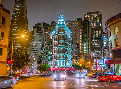San Francisco financial district nuit