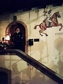 Gengenbach Allemagne watchman tour nuit fresque