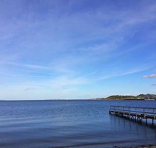 Fjord danemark vue mer superbe ponton