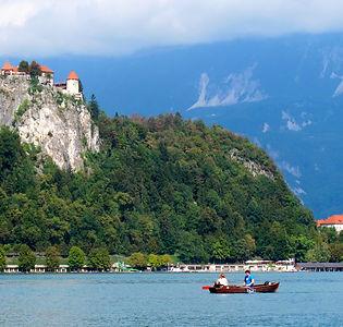 Bled, Slovénie, lac, île paradisiaque