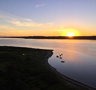 Fjord danemark coucher de soleil mer