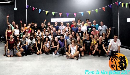 Groupe lors du festival Forró 2017