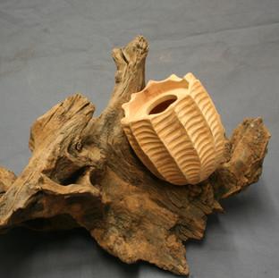 Carved vessel