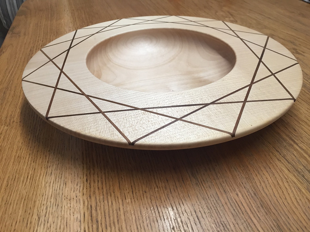 Massive Sycamore and Walnut fruit bowl