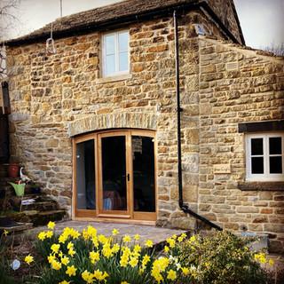 Oak entrance door and windows