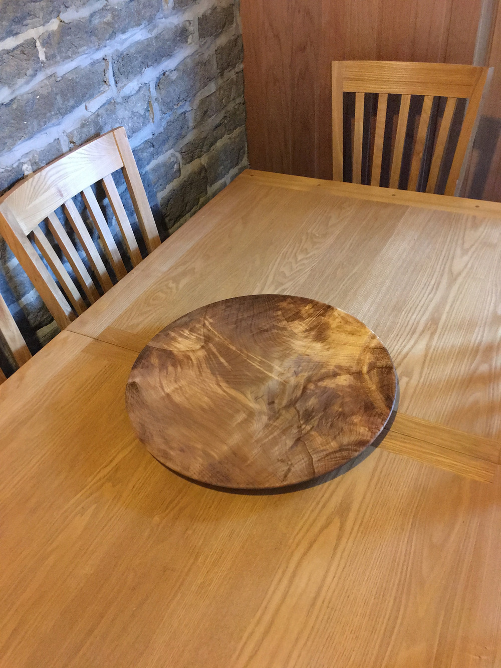 480mm diameter platter in spalted Sycamore