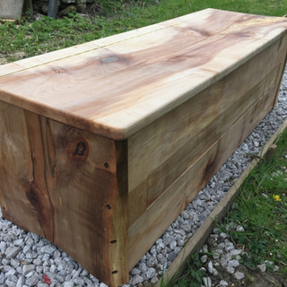 Spalted Sycamore bench/storage chest