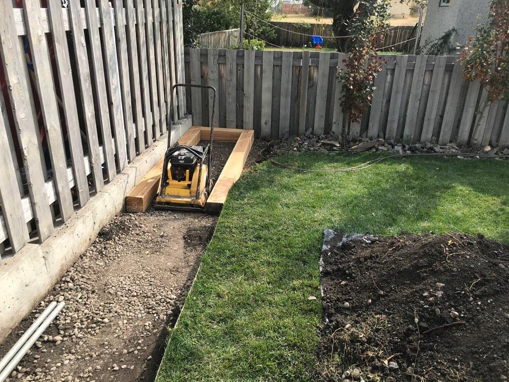 Planter Box Under Construction