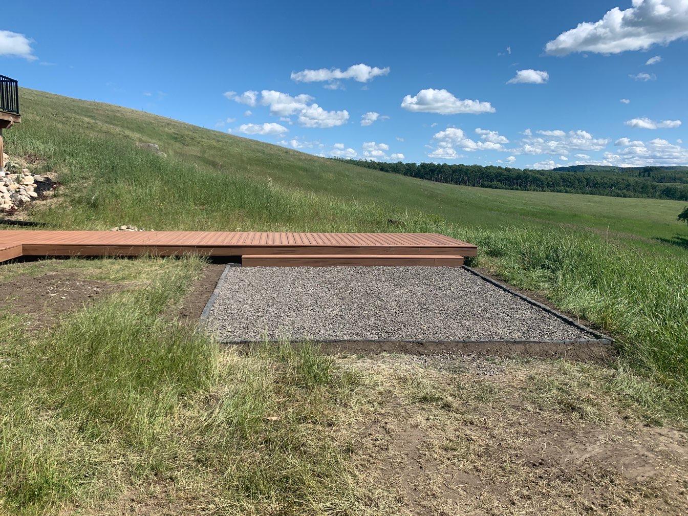 Deck & Gravel Pad