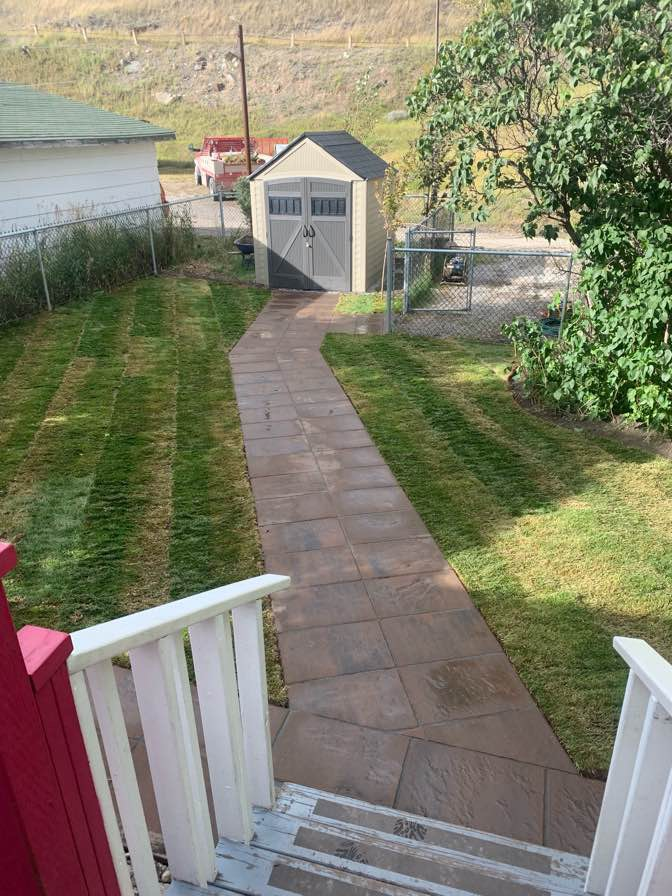 Pathway and Sod