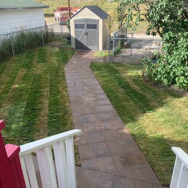 Paths, Walkways, and Sod