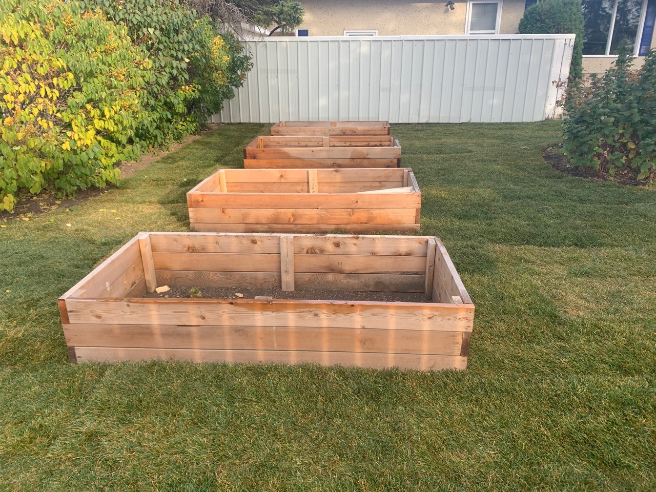 Planter Boxes After Sod Install