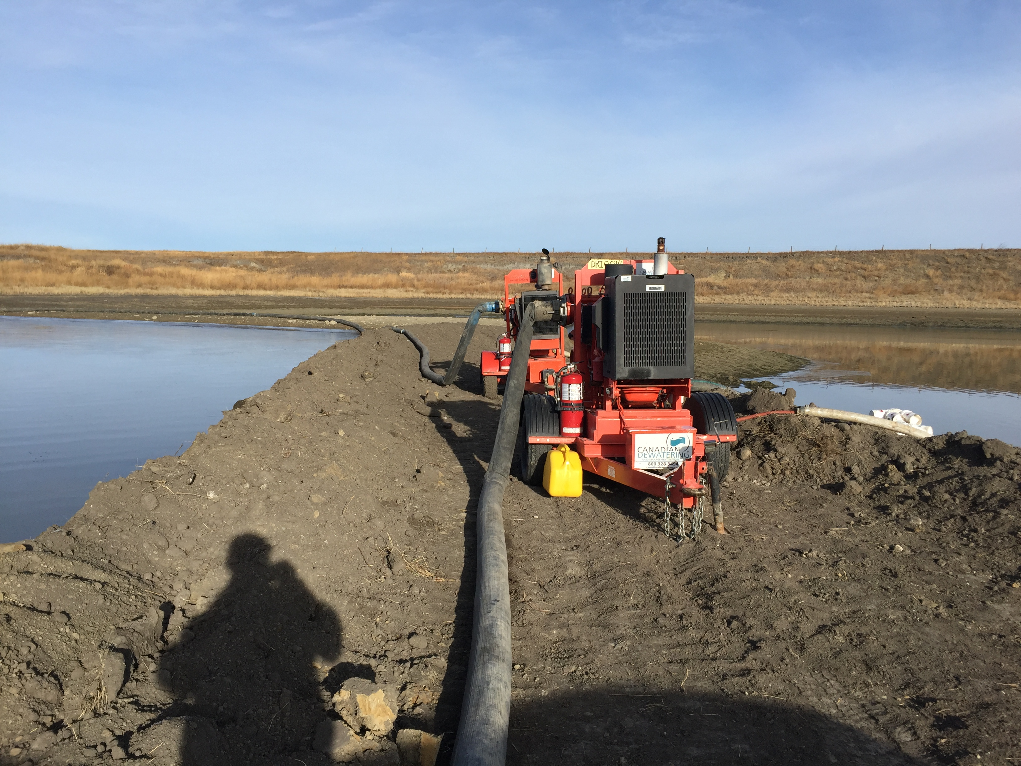 Dewatering One Bay for Desilting of Storm Pond