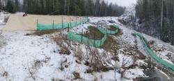 Silt Fence & Cocomatting Installation