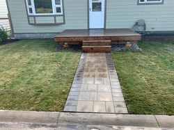Pathway, Decking and Sod