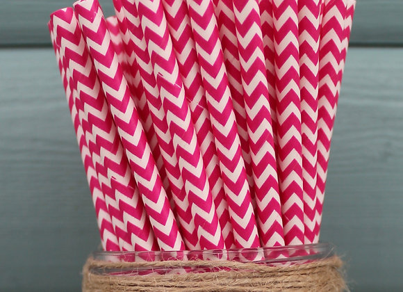 Bright Pink Chevron