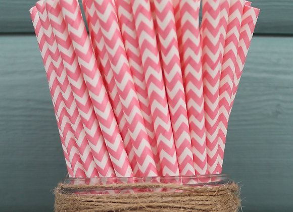 Candy Pink Chevron