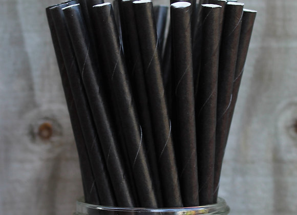 Cocktail Straw Plain Black