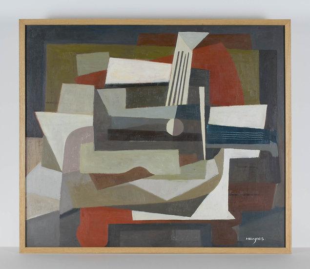 Cubist Still Life - Oak Frame