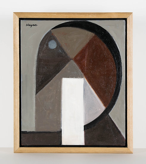 Cubist Head - Oak Frame