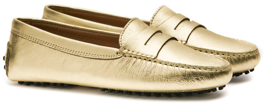 FS0 300 L GOLD LEATHER LADY MOCASSIN