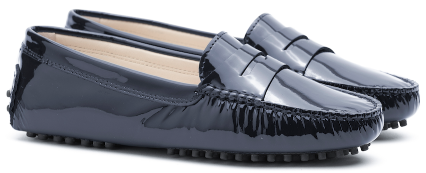 FS0 400 P PATENT LEATHER MIDNIGHT NAVY LADY MOCASSIN