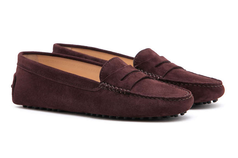 FS0 400 C Soft Suede DARK BROWN LADY MOCASSIN