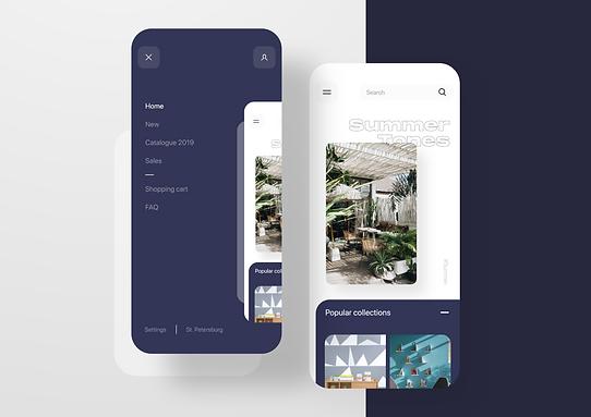 Furniture shop - mobile app