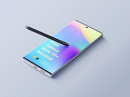 Free Samsung Galaxy Note 10 Plus Mockup